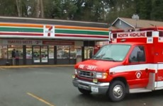 Hatchet-swinging attacker shot dead by shop customer