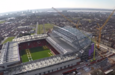 Amazing new drone footage shows Anfield's new Main Stand is coming along very nicely