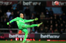 Randolph bemoans Schweinsteiger nudge that cost West Ham semi spot
