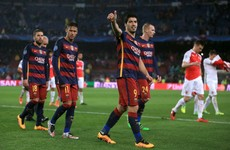 Suarez and Messi shine as Barca put spirited Arsenal to the sword