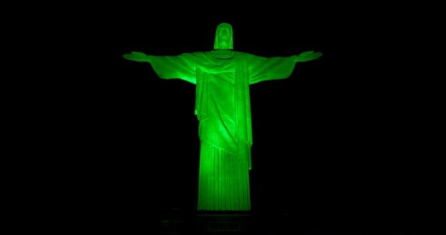 PHOTOS: The world's most famous landmarks are going green today