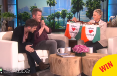 The two Irish lads from that Adele cover got special Paddy's Day jocks from Ellen