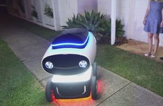 In the future, robots like this will deliver pizza to your door