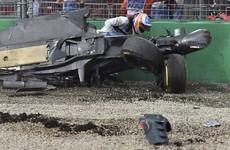 Fernando Alonso somehow walked away from this horrifying, high-speed crash unharmed