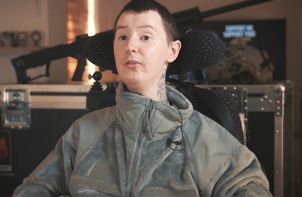 'In normal society I'm seen as a disabled guy but when playing Airsoft I'm a worthy combatant'