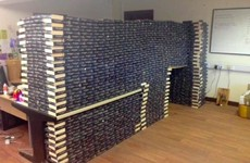 A charity shop received so many Fifty Shades of Grey donations, they built a fort