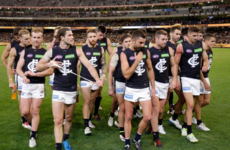 Ireland's Tuohy in action in 2016 AFL opener as Carlton defeated narrowly at the MCG