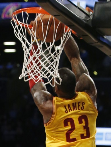 LeBron James' brilliant reverse dunk couldn't stop the Cavs losing in Brooklyn last night