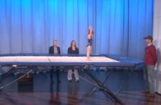 Take a break and watch this amazing tiny gymnast