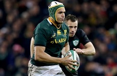 Springbok international lock to swap ROG for Strings at the end of the season