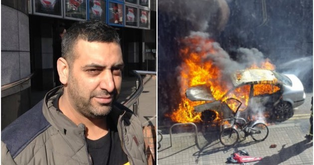 'It just caught fire and then boom': Driver tells of escape moments before car explodes