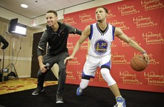 Steph Curry's whole family had great craic with his $350 grand waxwork
