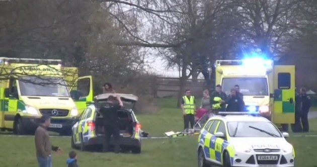 Two people arrested after young girl dies in freak bouncy castle accident
