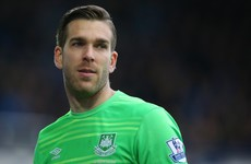 West Ham keeper scores classic Fifa goal in real life