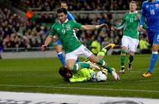 Ireland win two penalties in as many minutes during action-packed first half
