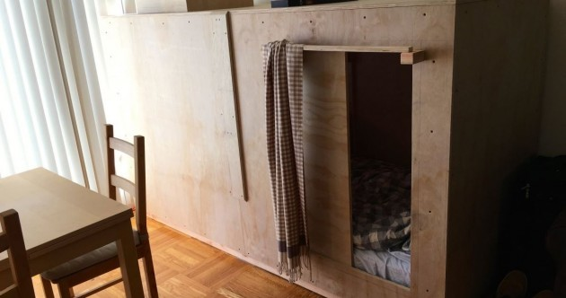 Man can't afford to live anywhere – builds bedroom 'pod' in someone else's apartment