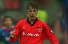 21 years ago, a Man United prospect with a remarkable right-foot made his league debut