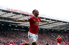 Anthony Martial scores landmark goal as Man United carve out cagey win