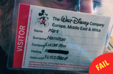 Disney made an absolute hames of Mark Hamill's name on his Star Wars security pass