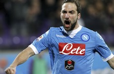Massive blow for Napoli's title hopes as Higuain handed four-match ban