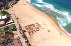 This Sydney GAA club paid tribute to 1916 on a gorgeous beach
