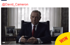 House of Cards threw excellent shade at David Cameron with one simple gif