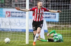 Derry City go top after comprehensive win over Shamrock Rovers