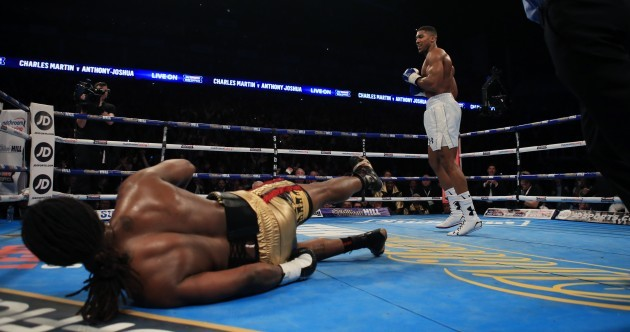 Anthony Joshua blows Charles Martin away with second round knockout