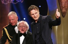 Liam Neeson picks up lifetime achievement award as Room wins big at the IFTAs