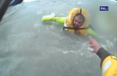 Dramatic video shows three fishermen rescued from sinking trawler in Cork