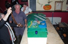 Senator takes a spin in a coffin…for charity