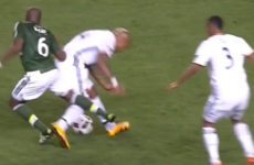 Nigel de Jong escapes red card for challenge that sees opponent leave the pitch in a wheelchair