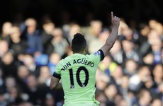 Guess who?! Aguero hits a hat-trick against Chelsea to take City into third