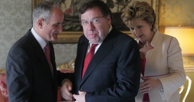 In pictures: What are Bertie and Brian doing in the Áras?