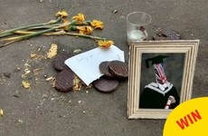 This town set up a shrine to a packet of digestives tragically crushed on a road