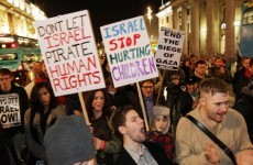 In pictures: O'Connell Street protests against Israeli naval blockade