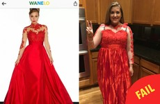 This girl ordered a dress online and it definitely didn't live up to expectations