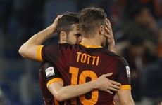 Francesco Totti rolled back the years with a stunning cameo tonight