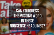Can You Guess the Missing Word in These Nonsense Headlines?