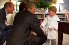 Barack Obama was granted an exclusive audience with an 'adorable' future king