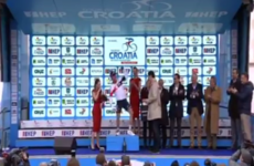 This Norwegian cyclist celebrated by throwing some serious shapes on the podium