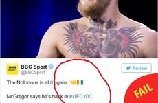 The BBC got the Ireland emoji wrong on its Conor McGregor story and people are taking the piss