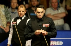 Ronnie's facing a battle today if he wants to stay in the world championships