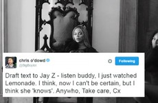 Chris O'Dowd has joined the Jay Z and Beyoncé debate with a brilliant tweet