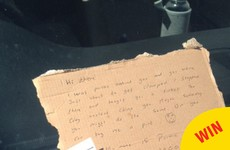 This Offaly lad saved a woman from getting clamped and left her a sound note