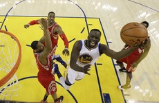 No Curry, no problem as Warriors rout Rockets to advance in NBA play-offs