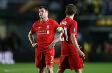 Last-minute goal dents Liverpool's Europa League hopes