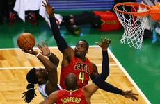 Thomas' double-double not nearly enough as Hawks soar past Celtics