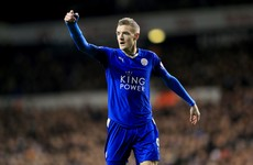 Leicester's Jamie Vardy named Football Writers' Association Footballer of the Year