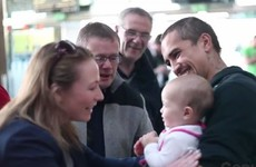 This emigrant's reunion with her family in Cork Airport is absolutely lovely